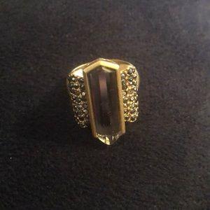 Lia Sophia 'Ransom' matte gold ring